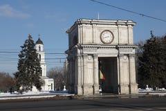 Triumphal arch, Kishinev Chisinau Moldova Stock Image