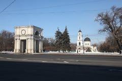 Triumphal arch, Kishinev Chisinau Moldova Royalty Free Stock Photography