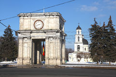 Triumphal arch, Kishinev Chisinau Moldova Stock Photos