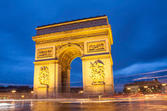 Triumphal arch. At the last night of 2013 year Stock Photo