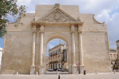 Triumphal Arch in Lecce Stock Images