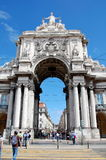 Triumphal Arch in Lisbon Royalty Free Stock Photography