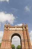 Triumphal arch made of brick. Barcelona Royalty Free Stock Photos