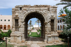 Triumphal arch of Marcus Aurelius in Tripoli. Roman triumphal arch of Marcus Aurelius in Tripoli, Libya Royalty Free Stock Image