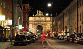 Triumphal Arch Maria Theresia Innsbruck. Evening atmosphere in the heart of Innsbruck Royalty Free Stock Photos