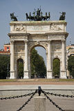 Triumphal arch in Milan, Italy Royalty Free Stock Photography