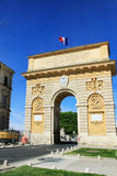 Triumphal Arch of Montpellier. MONTPELLIER, FRANCE – MAY 27, 2014: Triumphal Arch on May 27, 2014 in Montpellier, France Stock Photos