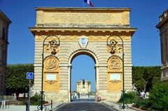 Triumphal arch of Montpellier. Triumphal arch in Montpellier, France Royalty Free Stock Images