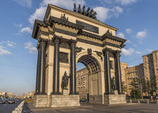 Triumphal arch in Moscow. Royalty Free Stock Photography