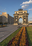 Triumphal arch in Moscow. Moscow, Russia. The arc de Triomphe Stock Photos