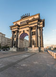 Triumphal arch in Moscow. Moscow, Russia. The arc de Triomphe Royalty Free Stock Image