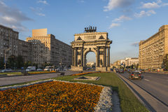 Triumphal arch in Moscow. Moscow, Russia. The arc de Triomphe Royalty Free Stock Photos