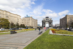 Triumphal arch in moscow Stock Photography