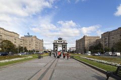 Triumphal arch in moscow Stock Photos