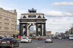 Triumphal arch in moscow Stock Images