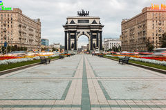 Triumphal Arch of Moscow to commemorate Russia's victory over Na Royalty Free Stock Photos