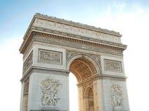 Triumphal arch , Napoleon Bonaparte Paris France. Triumphal arch , Napoleon Bonaparte with Blue sky in Paris France Stock Images