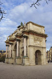 Triumphal arch near the Louvre Royalty Free Stock Photo