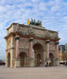 Triumphal arch near the Louvre Royalty Free Stock Photos