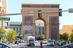 Triumphal arch near Paris Hotel in Las Vegas Royalty Free Stock Image