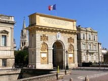 Free Triumphal Arch Of Louis The Fourteenth In The City Of Montpellier Stock Photos - 177803493