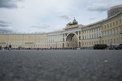 Triumphal Arch. At Palace Square, St. Petersburg Royalty Free Stock Images