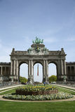 Triumphal arch in the Parc du Cinquantenaire in Brussels Stock Image