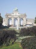 Triumphal arch Parc du Cinquantenaire Fiftieth Anniversay Jubil Stock Images