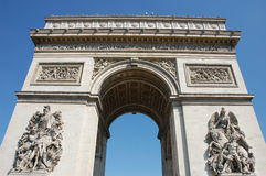 Triumphal Arch in Paris. France Stock Photos