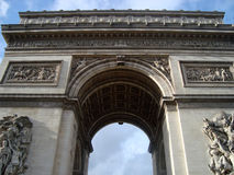 Triumphal Arch in Paris Royalty Free Stock Image