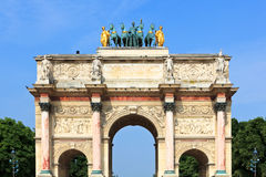 Triumphal Arch in Paris Royalty Free Stock Photo