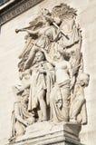 Triumphal arch in Paris Royalty Free Stock Photos