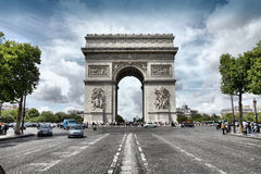 Triumphal Arch, Paris Royalty Free Stock Images