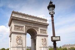 Triumphal Arch In Paris stock image