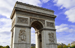 Triumphal Arch in Paris, France Stock Photography