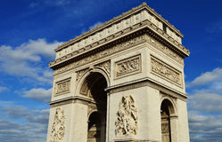 Triumphal Arch in Paris, France Royalty Free Stock Images