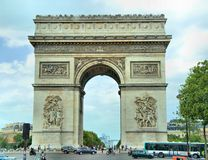 Triumphal Arch. In Paris France Stock Photography