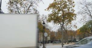 Triumphal Arch - Paris, France, Arc de Triomphe Paris, France. PARIS, FRANCE - CIRCA 2015: Panning from Champs-Elysees to the Arc de Triomphe - Triumphal Arch stock video footage