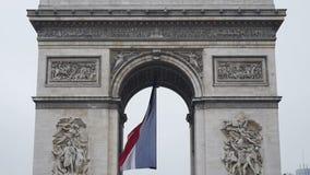 Triumphal Arch - Paris, France, Arc de Triomphe Paris, France. PARIS, FRANCE - CIRCA 2015: Slow motion and tilt-up to the Arc de Triomphe - Triumphal Arch, the stock video