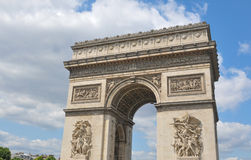 Triumphal Arch in Paris, France Stock Photos