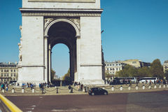 Triumphal Arch -Paris France city walks travel shoot Stock Photo