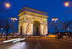 The Triumphal arch , Paris, France. Stock Image
