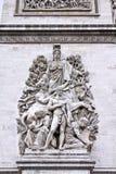 Triumphal Arch, Paris Royalty Free Stock Photos
