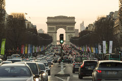 The Triumphal Arch, Paris, France. Royalty Free Stock Photography