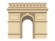 Triumphal Arch. Paris. France Symbol. Vector illustration. Royalty Free Stock Image