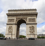 Triumphal Arch in paris,france Stock Images