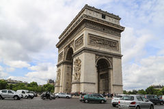 Triumphal Arch in paris,france Royalty Free Stock Photos