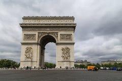 Triumphal Arch in paris,france Stock Photo