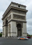 Triumphal Arch in paris,france Royalty Free Stock Photography