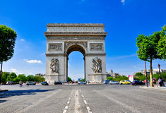 Triumphal arch in Paris Stock Photos